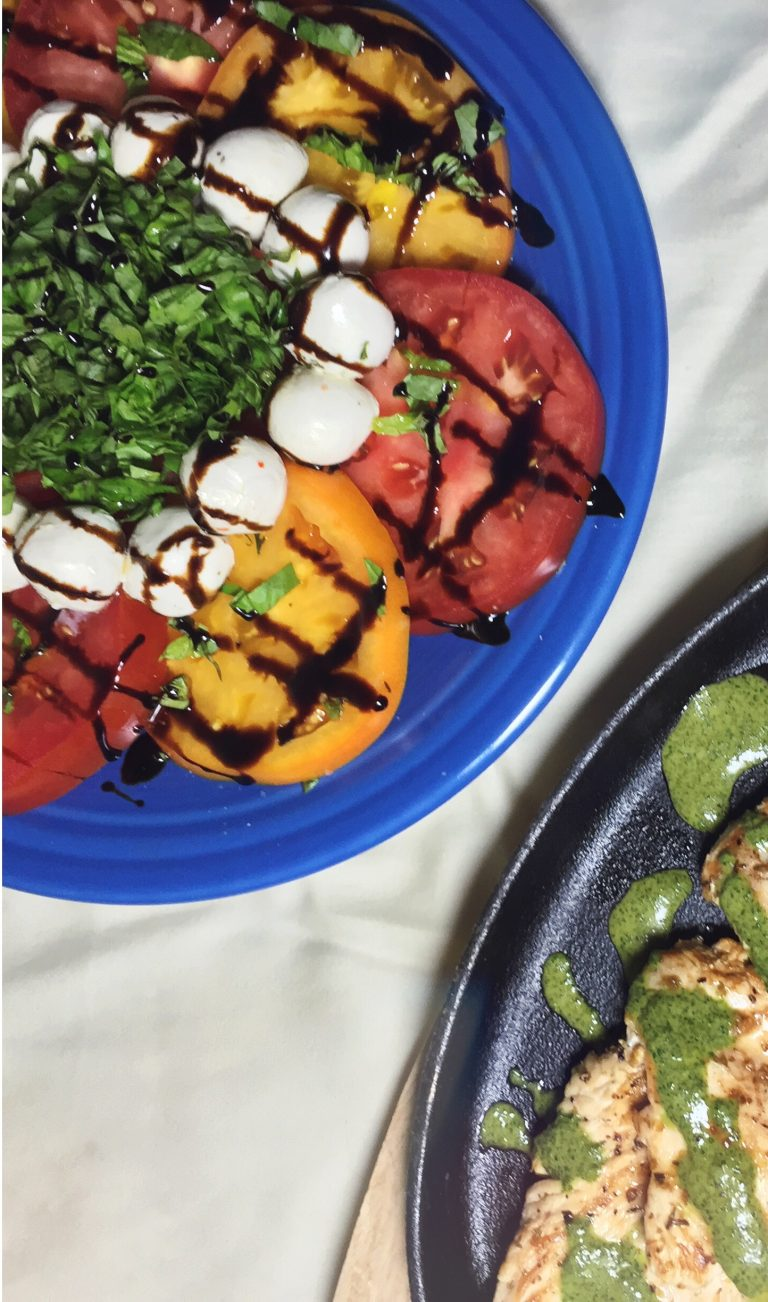 Blog Beginnings Plus an Incredibly Useful, Easy Recipe for Caprese Salad