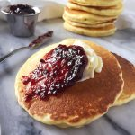 Buttermilk Drop Scones with preserves and butter