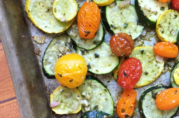 Roasted Summer Squash and Tomatoes
