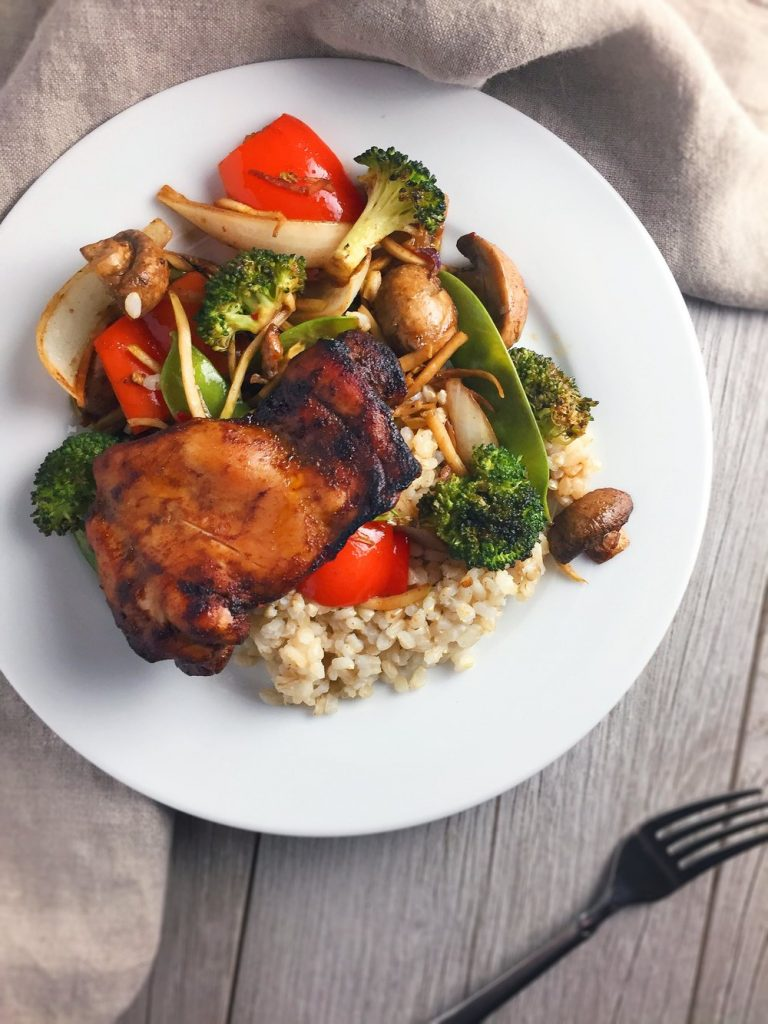 Sheet Pan Sweet Spiced Chicken Thighs and Vegetables