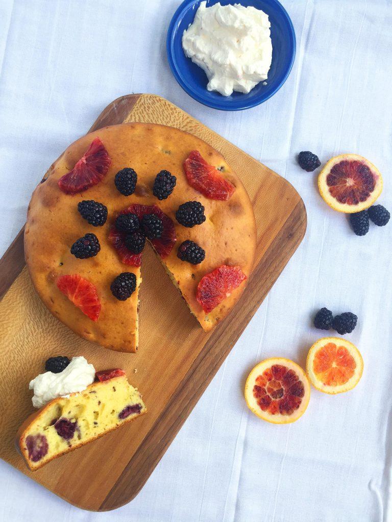 Blackberry Blood Orange Breakfast Cake