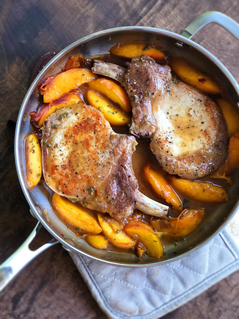Date Night Peach-Glazed Pork Chops